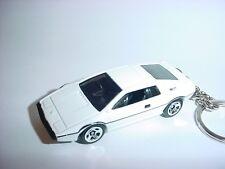 NEW 3D LOTUS ESPIRIT S1 CUSTOM KEYCHAIN keyring key WHITE racing finish 007 spy