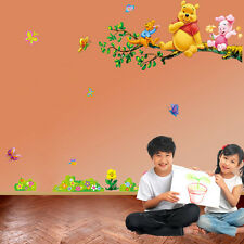 Winnie the Pooh Tree Branch Wall Sticker Decal Kids Nursery Room Decor DIY Mural