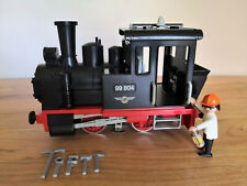 Playmobil schwarze LGB / Spur G - Lok / Dampflok 99804 mit Licht ! Super !