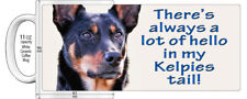 "KELPIE BLACK AND TAN DOG  ""HIGH DETAILED"" IMAGE COFFEE MUG."