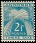 """ANDORRE FRANCAIS STAMP TIMBRE TAXE N° 34 """" TIMBRE-TAXE 2F """" NEUF x TB"""