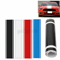 Universal 33x130cm Car Auto Vinyl Racing Stripe Sticker Hood Decal Body Blue Red