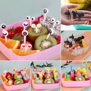 Mini Kids Animal Farm Fruit Fork Cartoon Snack Cake Dessert Food Fruit ToothpiFY