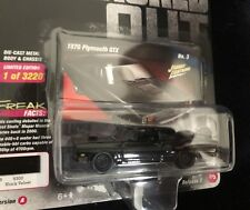 NEW 2018 Street Freaks Diecast Johnny Lightning Blacked Out 1970 GTX Plymouth