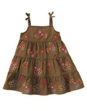GYMBOREE HAPPY HIPPO BROWN w/ FLOWERS DRESS 3 6 NWT