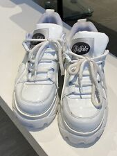 Womens Buffalo Classic Low White Patent Trainers Shoes size 5 38