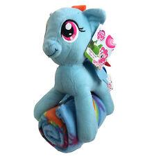 New My Little Pony Rainbow Mohawk Pillow / Hugger & Fleece Throw Blanket Set