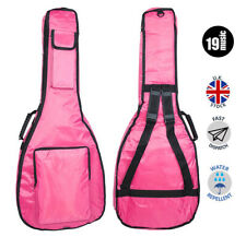 PINK 3/4 - 7/8 SIZE 39 inch acoustic guitar bag shiny padded carry straps girls