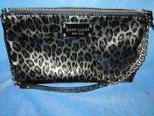 Kate Spade Leopard Print Handbag Purse Clutch AWESOME