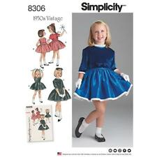 SIMPLICITY SEWING PATTERN CHILD'S DRESS & LINED JACKET 1950S VINTAGE 3-8 8306