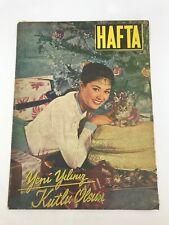 HAFTA #52 Turkish Magazine ANDRA MARTIN COVER 1950s Rare GRACE KELLY Vintage Ads