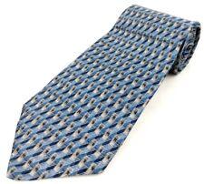 Barrington 100% Silk Made in USA Geometric Blue / Gray Teal Necktie NWT