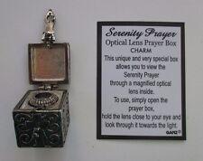 H Serenity Prayer Optical lens PRAYER BOX CHARM Ganz magnified hidden message