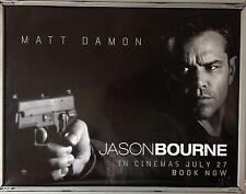 Cinema Poster: JASON BOURNE 2016 (Black Close Up Quad) Matt Damon Tommy Lee Jone