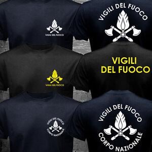 New VIGILI DEL FUOCO Italy Firefighter Fire Department Brigade T-shirt