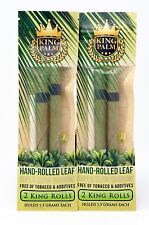 8x Packs King Palm King Leaf ( 16 Pre Rolled Cones ) Real Natural Hand Roll Tip