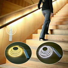 PIR Motion Sensor LED Strip Light Battery Wireless Stairs Cabinet Closet Lamp UK