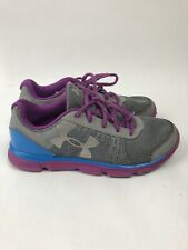 Under Armour Running Shoes Size 5Y Youth Micro G  Purple Blue Grey 1266305-035