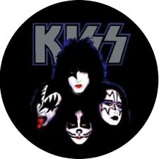 KISS Poker Hand Protector Card Guard Novelty Token Chip Mounted in Acrylic Case