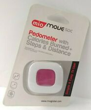 Mio Move Pedometer With Calories Burned & Steps Distance New Pink Track Walking