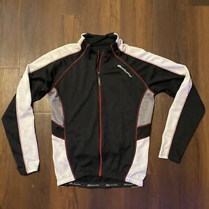 Bellwether USA Black/Red/White/Gray Cycling Jersey Mens M Long Sleeve Full Zip
