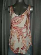 Target woman size 6/8/10 Tarryn v-neck sleeveless top Tropicana print