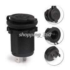 12V Waterproof Car Motorcycle Cigarette Lighter Socket Power Plug Outlet A+ USPS