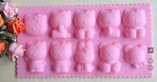 Silikonform Tortendeko Veiner mold Fondant Fimo Schokolade Hello Kitty Katze neu