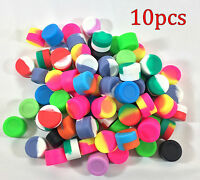 10pcs 3ml Silicone Container Jar Non-Stick Mixed colors Round Wholesale lot