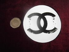 "Pair of 2x ""Decay"" Romany Circle Designer Sticker For Canisters Glass Pram"