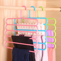 5-Layers Hangers Anti-slip Trousers Pants Towels Tie Multi Closet Rack organizer