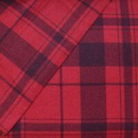 Cuddl Duds Queen Flannel Sheet Set Cotton Heavyweight Bed Sheets - Red Plaid