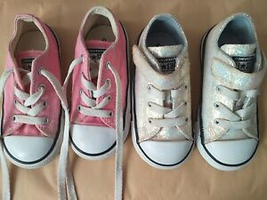 Girls Converse Shoes, Toddler Size 7