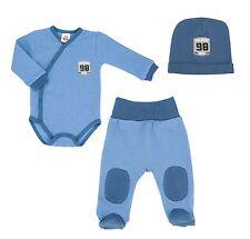 Baby Set Wickelbody mit Hose und Mütze Blue 3-tlg. Größe 56 62