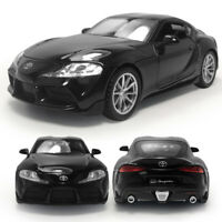 1:32 Toyota GR Supra Model Car Diecast Toy Vehicle Kids Sound Black Pull Back