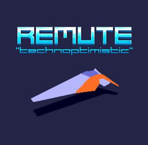 Technoptimistic by Remute - Sega Mega Drive Genesis Nomad Game Cartridge
