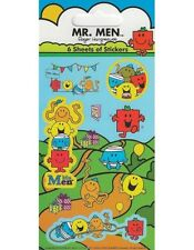 6 Mini Character Sticker Sheets for Party Bags Reward Children's Craft Mr Men