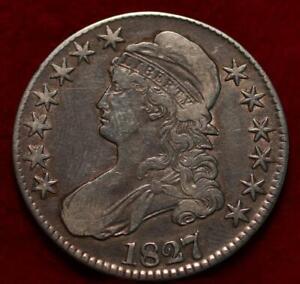 1827 Philadelphia Mint Silver Capped Bust Half Dollar