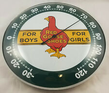 RED GOOSE SHOES FOR BOYS GIRLS RED DUCK LOGO ROUND DOME SHAPE ADV THERMOMETER