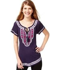 International Concepts Top Blouse embroidered beautiful  sz  L / XL  $70