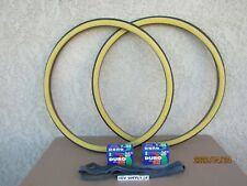 26'' X 1-3/8 GUMWALL BICYCLE TIRES, [2] TUBES & [2] LINERS FOR ROAD BIKES.