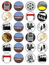 X24 HOLLYWOOD CUP CAKE TOPPERS BIRTHDAY PARTY DECORATIONS ON EDIBLE RICE PAPER