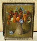 Christine A. Wainwright Chrysanthemums in Twisted Wooden Vase oil 1923 Exhibited