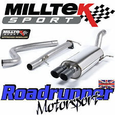 Milltek Exhaust Fiesta ST180 ST200 Cat Back System SSXFD131 Non Resonated Black