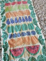 Nice Vintage Linen Dish Tea Kitchen Towel SWEDEN - Fruit & Vegetable Ruktladan