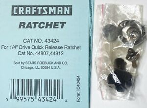 """Craftsman Repair Kit 43424 for 1/4"""" Drive Quick Release Ratchet 44807 44812 USA"""