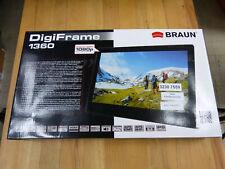 BRAUN DigiFrame 1360 digitaler Bilderrahmen 13,3 Zoll, WXGA, HD! Wie neu! OVP!