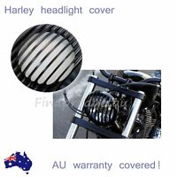 "5.75"" CNC Black Headlight Grill Cover for Harley FX XL883 XL1200 SPORTSTER DYNA"