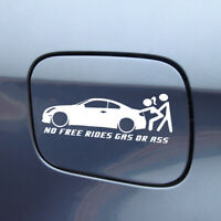 No Free Rides Gas Or Ass Car Sticker Window Truck Bumper Auto Decal Accessories