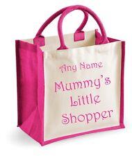 Personnalisé Mummy's Little cabas Filles Rose Shopping Sac De Jute